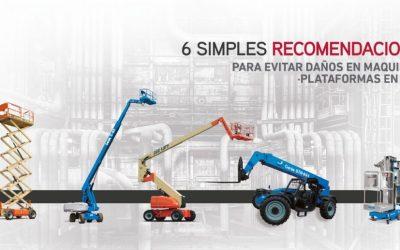 6 Simples recomendaciones para evitar daños en maquinaria /  plataformas en obra