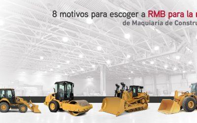 8 motivos para escoger a RMB para la renta de maquinaria de construcción